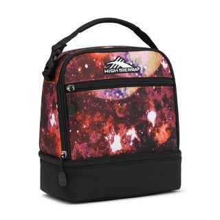 High Sierra Stacked Compartment Lunch Bag, Space Age/Black