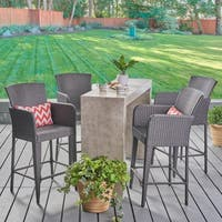 Anaya Outdoor 38-inch Wicker Barstool by Christopher Knight Home