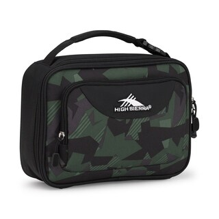 High Sierra Single Compartment Lunch Bag, Shattered Camo/Black