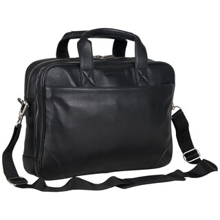 Ben Sherman Full Grain Karino Leather Anti-Theft RFID 15-inch Laptop Business Briefcase