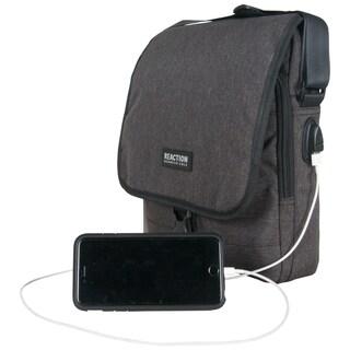 Kenneth Cole Reaction USB Charging Port Flapover Tablet Messenger Bag