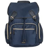 Kenneth Cole Reaction Silky Polyester Anti-theft Flapover Drawstring 15-inch Laptop Backpack