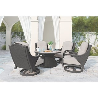 Signature Design by Ashley Marsh Creek Brown Round Fire Pit Table