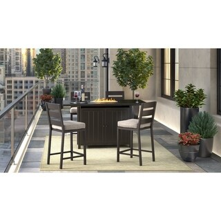 Signature Design by Ashley Perrymount Dark Brown Rectangular Fire Pit Bar Table