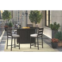 Signature Design by Ashley Perrymount Brown and Gray Outdoor Bar Stool Set of 2