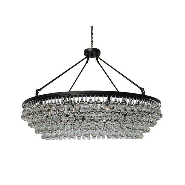 Celeste Extra Large Gl Drop Crystal Chandelier Black
