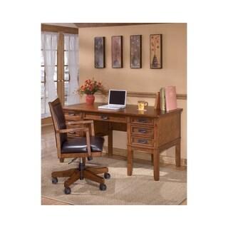 Signature Design by Ashley Cross Island Medium Brown Home Office Storage Leg Desk