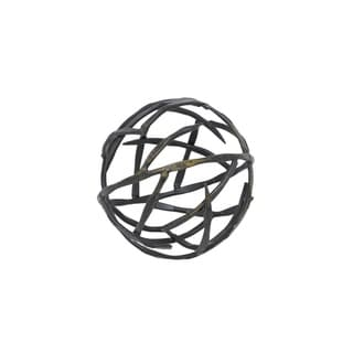 Three Hands Metal Orb - Gold Brush