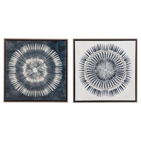 Signature Design by Ashley Monterey Set of 2 Wall Art - Blue/White