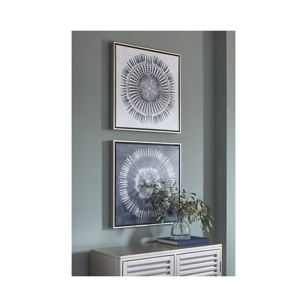 Shop Signature Design by Ashley Monterey Set of 2 Wall Art - Blue ...