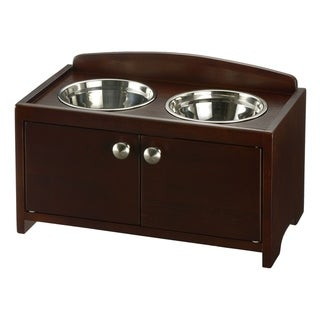 Link to Richell Elegant Wooden Pet Feeder Similar Items in Dog Feeders & Waterers