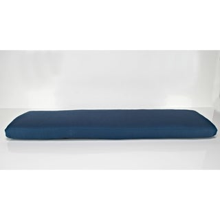 Pew Bench Cushion in Sunbrella Alyssa Luvs Blue Jasmine