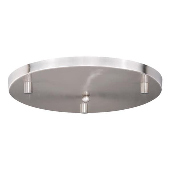 "16"" Canopy for 3 Mini Pendants Satin Nickel"