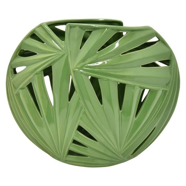 Three Hands Ceramic Pierced Vase