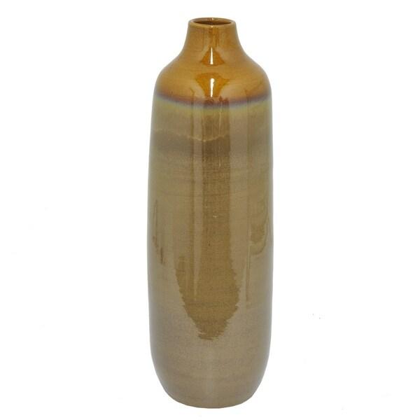 Three Hands Glazed Two-Tone Ceramic Vase