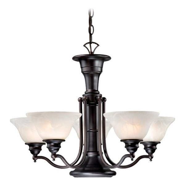 Vaxcel Standford 6L Chandelier Oil Burnished Bronze