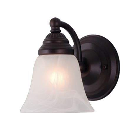 Standford 1 Light Bronze Bathroom Wall Fixture - 5.25-in W x 7-in H x 7-in D