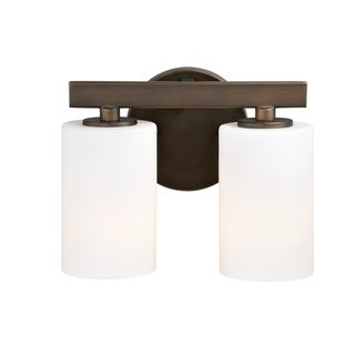 Link to Glendale 2 Light Bronze Bathroom Vanity Fixture - 9.75-in W x 8-in H x 5-in D Similar Items in Bathroom Vanity Lights