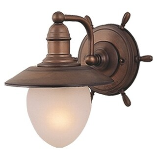 Vaxcel Orleans 1L Wall Light Antique Red Copper