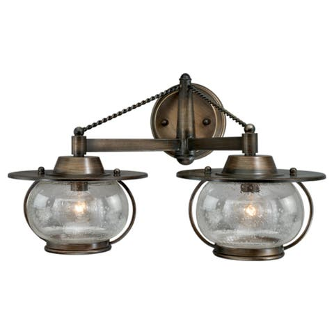 Jamestown 2 Light Bronze Coastal Bathroom Vanity Fixture - 18-in W x 11-in H x 10.25-in D