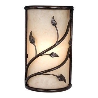 "Vaxcel Vine 10"" Wall Sconce Oil Shale"