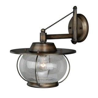 "Vaxcel Jamestown 1L 13-1/2"" Wall Light Parisian Bronze"