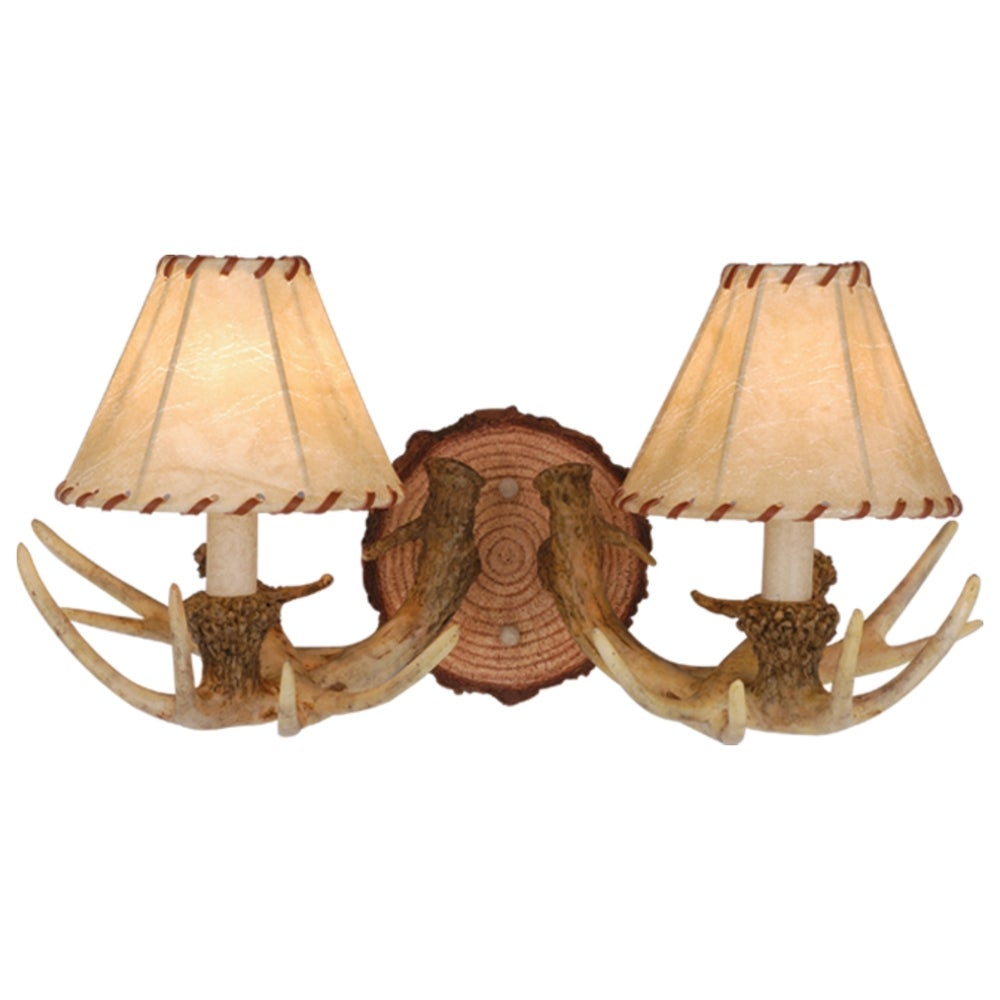 Lodge 2 Light Rustic Vanity//Wall Light