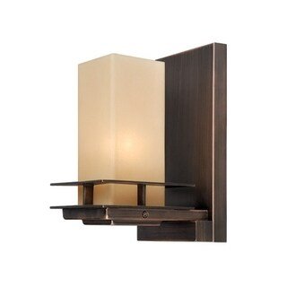 Vaxcel Oak Park 1L Wall Light Sienna Bronze