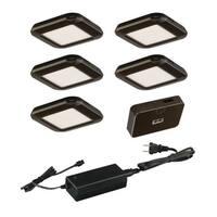 Vaxcel Instalux® Low Profile Under Cabinet Puck Light 5-pack Kit