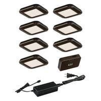 Vaxcel Instalux® Low Profile Under Cabinet Puck Light 7-pack Kit
