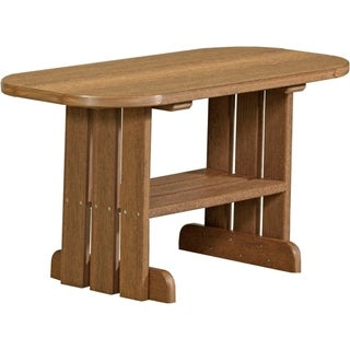 Outdoor Coffee Table in Woodgrain Colors - Poly Lumber