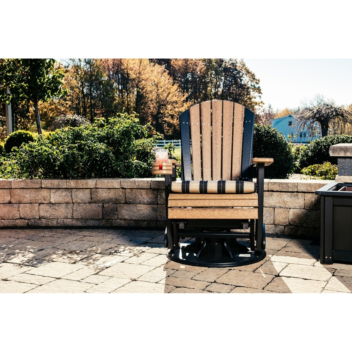 Details About Adirondack Swivel Glider Chair Recycled Plastic