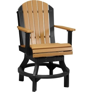 Poly Adirondack Swivel Chairs - Set of 2 - Counter Height