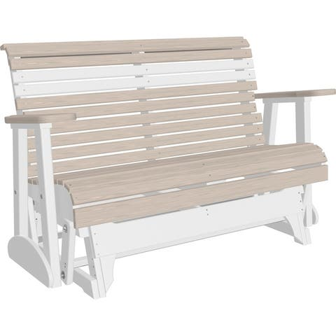 Outdoor 4' Rollback Glider in Woodgrain Colors - Recycled Plastic
