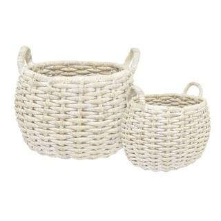 Three Hands Basket Set Of 2 - l24.25x20.75x20 * m 17.25x13.75x18 *