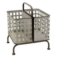 Three Hands Decorative Metal Storage Basket