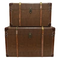 Three Hands Set Of Two Wood Trunks