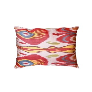 "Pasargad Silk Velvet Ikat Pillow (15"" X 24"")"