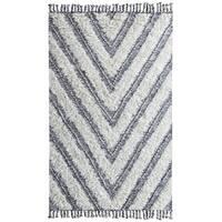 Tangier Kilim Hand-loomed Shag Area Rug by Kosas Home - 8' x 10'