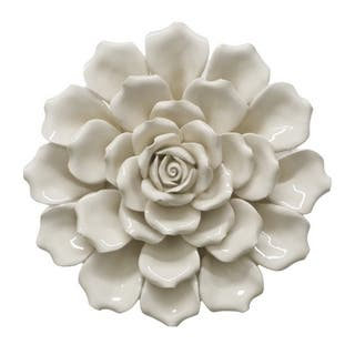 Silver Orchid Bellamy Flower Wall Decoration