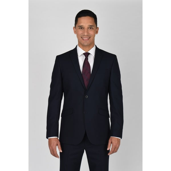 Kenneth Cole Reaction Navy Shadow Check Suit Separate Coat. Opens flyout.