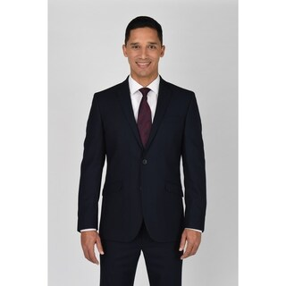 Kenneth Cole Reaction Navy Shadow Check Suit Separate Coat