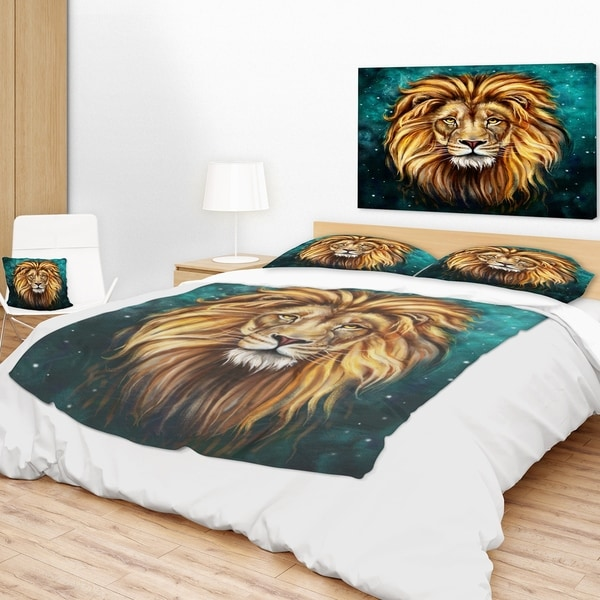 Designart 'Lion Head In Blue' Animal Throw Blanket Free Shipping Magnificent Lion Blanket Or Throw
