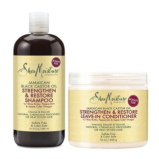 Shea Moisture Jamaican Black Castor Oil Strengthen, Grow & Restore Combination 2-piece Gift Set