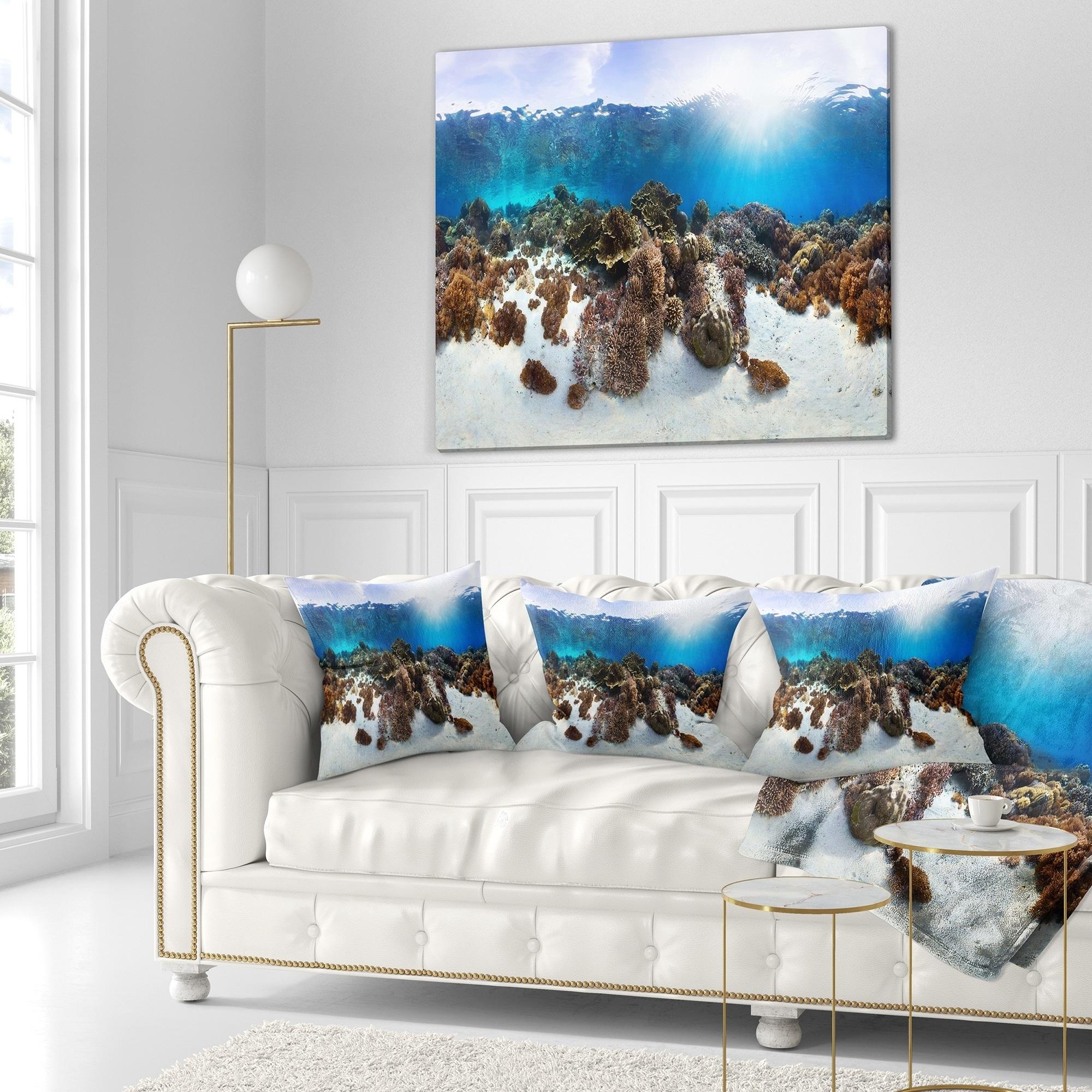 Designart Indonesia Underwater Panorama Photography Throw Blanket On Sale Overstock 20910101 71 In X 59 In