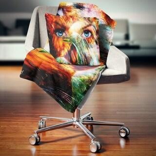 Designart 'Woman Feather Collage' Portrait Throw Blanket