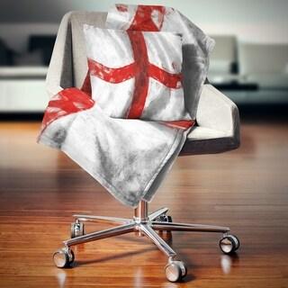 Designart 'Flag of England' Contemporary Throw Blanket
