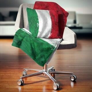 Designart 'Italy Flag' Contemporary Throw Blanket