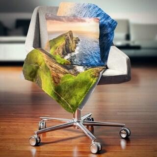 Designart 'Ocean Cost at Sunset' Photography Throw Blanket