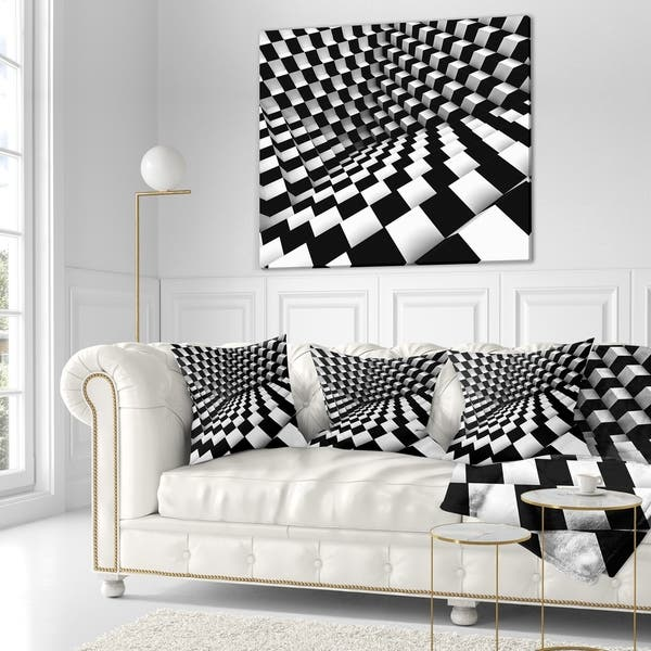 Tremendous Shop Designart Optical Black And White Pattern Abstract Gmtry Best Dining Table And Chair Ideas Images Gmtryco
